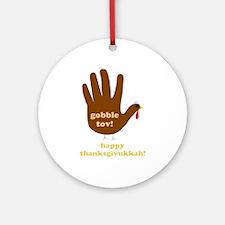 gobble tov! ornament (round)