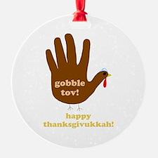 gobble tov! round ornament