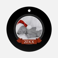 Photo Frame with Ye... Ornament (Round)