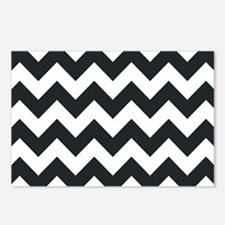 Chevron Black Postcards (Package of 8)