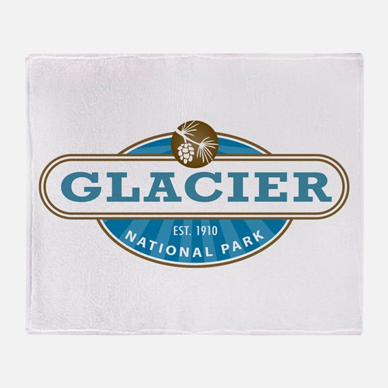 Glacier National Park Throw Blanket