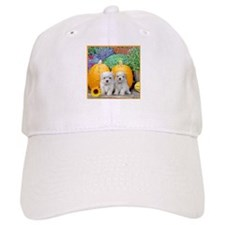 Thanksgiving Maltese puppies Baseball Baseball Cap
