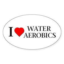 Water Aerobics Oval Bumper Stickers