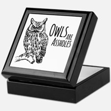 Owls Are Assholes Keepsake Box
