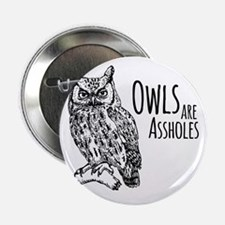 "Owls Are Assholes 2.25"" Button"