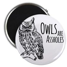 Owls Are Assholes Magnet