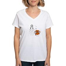 Orange You Glad Women's White V-Neck T-Shirt