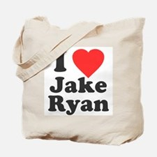 I Love Jake Ryan Tote Bag