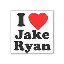 "I Love Jake Ryan Square Sticker 3"" x 3"""