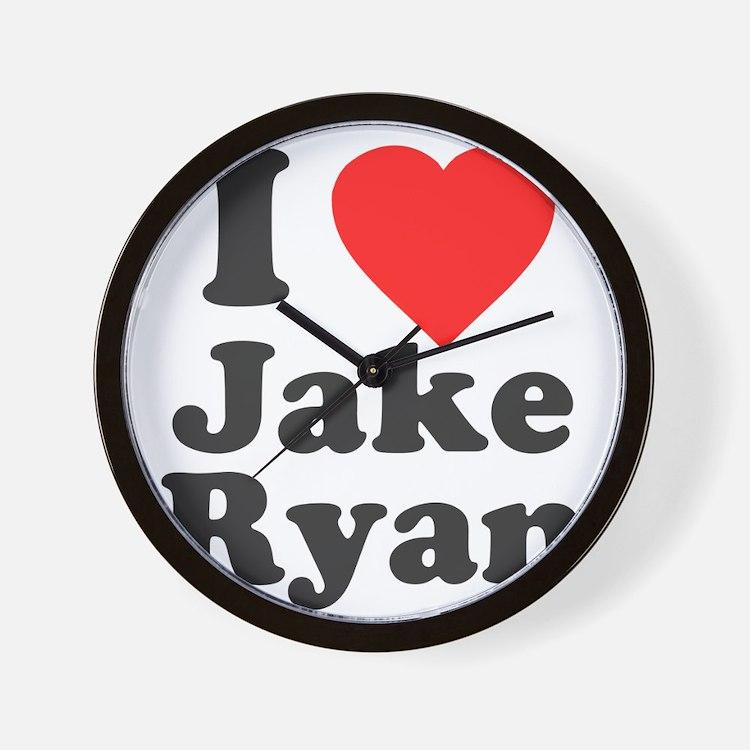 I Love Jake Ryan Wall Clock