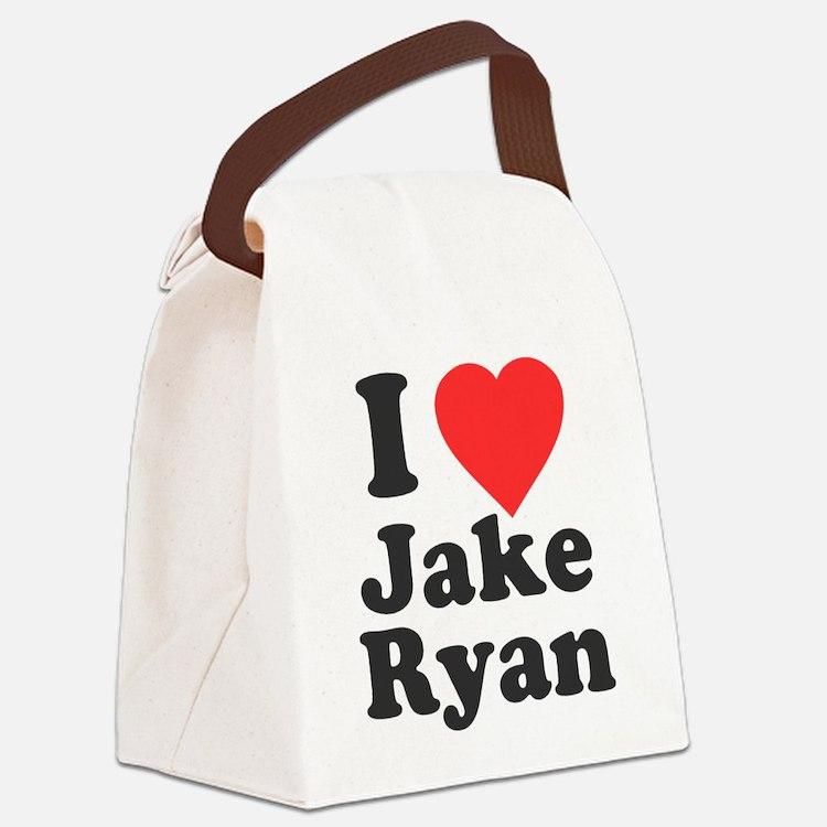I Love Jake Ryan Canvas Lunch Bag