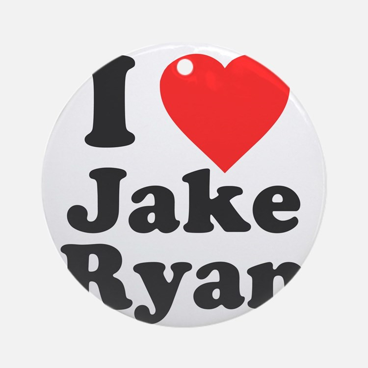 I Love Jake Ryan Round Ornament