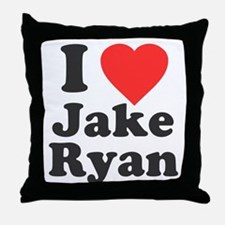 I Love Jake Ryan Throw Pillow