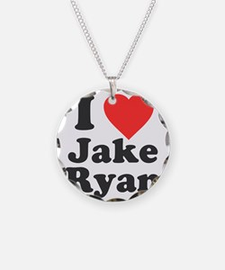 I Love Jake Ryan Necklace Circle Charm
