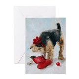 Airedale christmas Greeting Cards