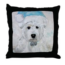 Tarheel Santa Throw Pillow