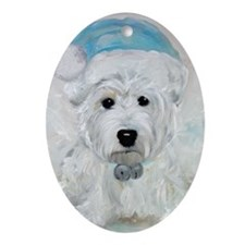 Tarheel Santa Oval Ornament