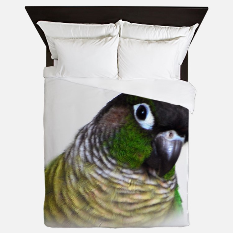 Green Cheek Conure.jpg Queen Duvet