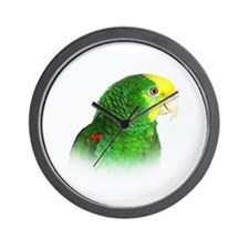 Double Yellow Headed Amazon.jpg Wall Clock