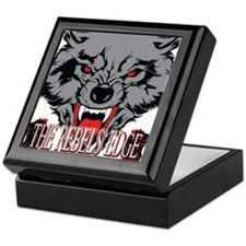 Angry Wild Wolf With Fangs Keepsake Box