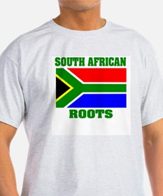 south african roots Ash Grey T-Shirt