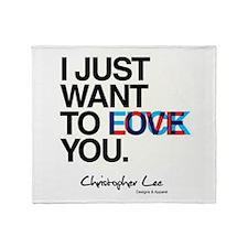 LOVE F*CK Throw Blanket