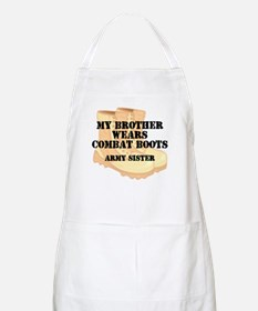 Army Sister Brother Desert Combat Boots Apron