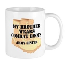 Army Sister Brother Desert Combat Boots Mugs