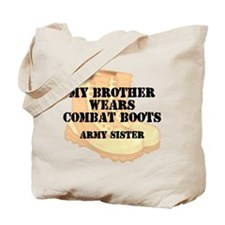 Army Sister Brother Desert Combat Boots Tote Bag