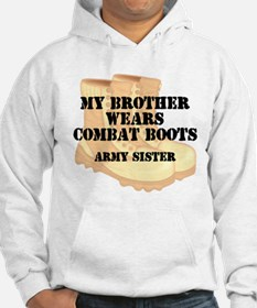 Army Sister Brother Desert Combat Boots Hoodie