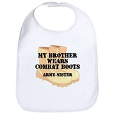 Army Sister Brother Desert Combat Boots Bib