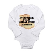 Army Sister Brother Desert Combat Boots Body Suit