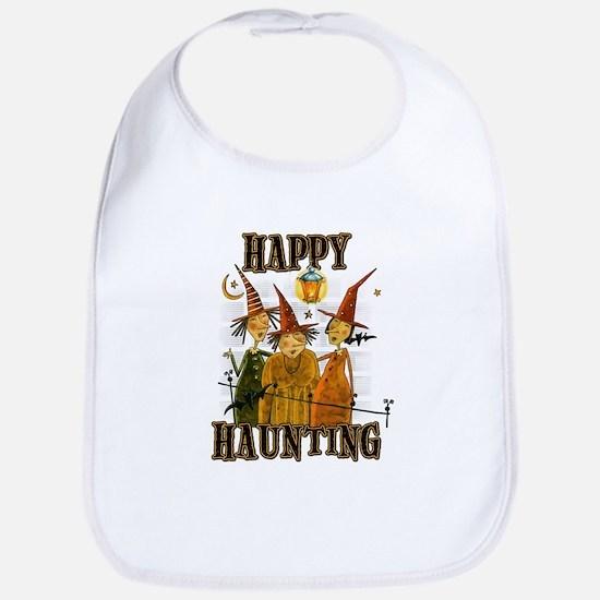Happy Haunting 3 Witches Bib