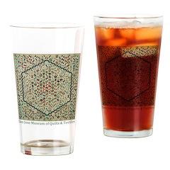 Grandmother's Garden Quilt Drinking Glass