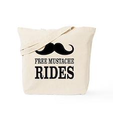 Mustache Rides Tote Bag