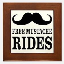 Mustache Rides Framed Tile