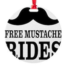 Mustache Rides Ornament