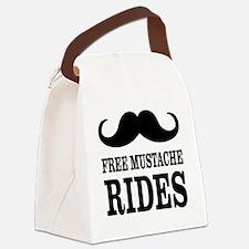 Mustache Rides Canvas Lunch Bag