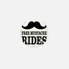Mustache Rides Mini Button