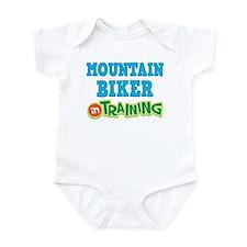 Mountain Biker in Training Infant Bodysuit