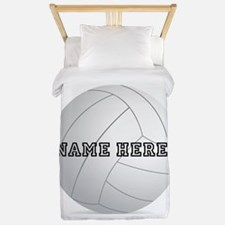 Personalized Volleyball Player Twin Duvet