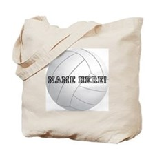Personalized Volleyball Player Tote Bag