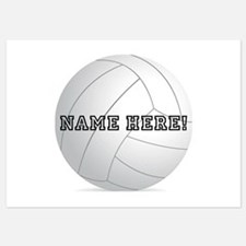 Personalized Volleyball Player Invitations