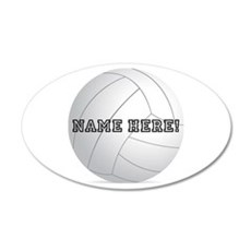 Personalized Volleyball Player Wall Decal