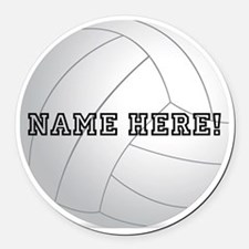 Personalized Volleyball Player Round Car Magnet