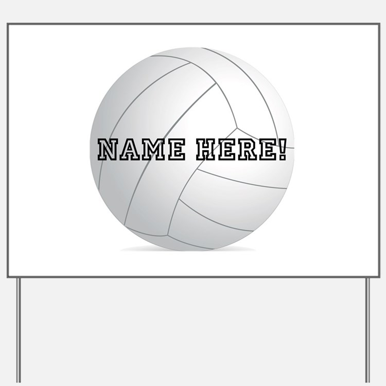 Personalized Volleyball Player Yard Sign