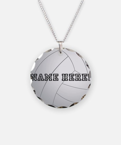Personalized Volleyball Player Necklace