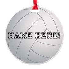 Personalized Volleyball Player Ornament