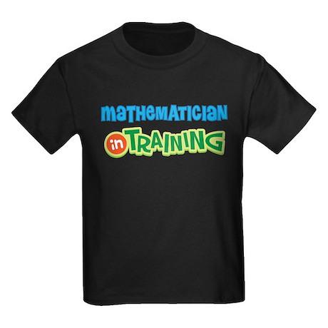 Mathematician in Training Kids Dark T-Shirt