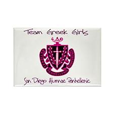 SDAP Team Greek Girls Rectangle Magnet